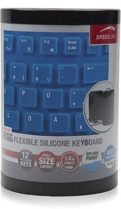 Speedlink RUGG Flexible Silikon Keyboard, Tastatur (geräuscharme