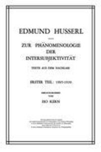 Zur Phänomenologie der Intersubjektivität