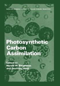 Photosynthetic Carbon Assimilation