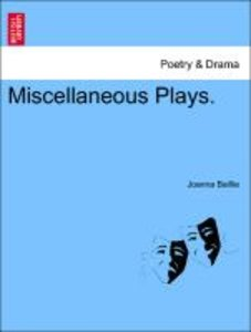 Miscellaneous Plays. Second Edition.