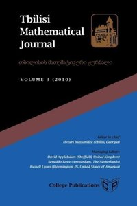 Tbilisi Mathematical Journal Volume 3 (2010)