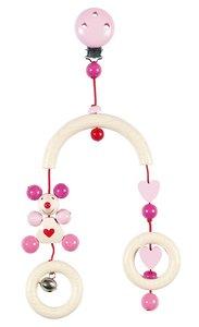 Goki 63450 - Mini-Trapez Maus (rosa), Holz