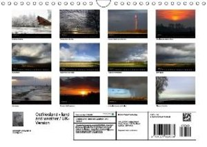 Ostfriesland - land and weather / UK-Version (Wall Calendar 2015