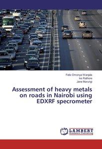 Assessment of heavy metals on roads in Nairobi using EDXRF specr
