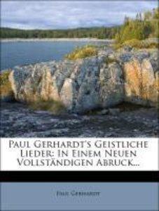 Paul Gerhardt's Geistliche Lieder