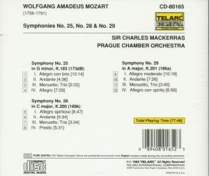 Sinfonien 25,28 & 29
