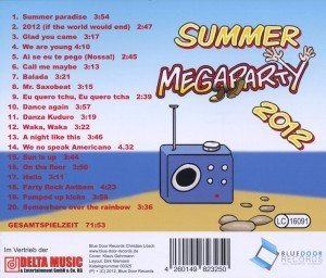 Summer Megaparty 2012 incl. Summer Paradies