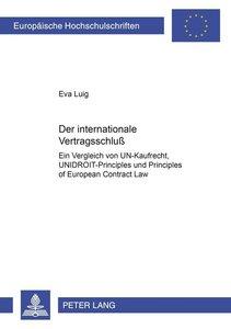 Der internationale Vertragsschluß