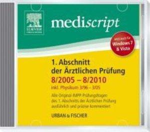 Mediscript 1. Abschnitt der Ärztlichen Prüfung 8/05-8/10 CD, ink