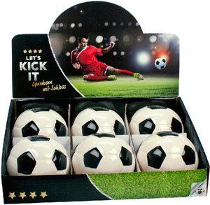 LET'S KICK IT Fußball Spardose mit Schloss