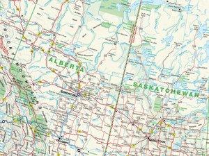 Übersichtskarte Canada 1 : 6 000 000