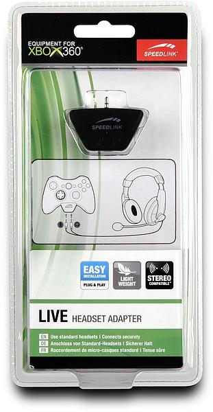 Speedlink SL-2337-SBK LIVE Headset Adapter - für Xbox 360, schwa - zum Schließen ins Bild klicken