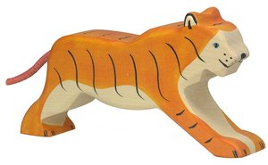 Goki 80135 - Tiger, laufend, Holz