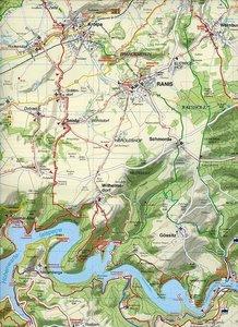 Oberes Saaletal, Saalfeld, Hohenwartetalsperre und Umgebung 1 :