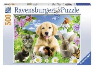 Niedliche Haustiere. Puzzle 500 Teile