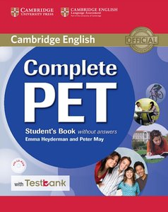 Testbank Complete PET. Student's Book without answers with CD-RO
