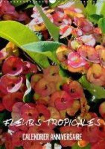 Fleurs tropicales / calendrier anniversaire (Calendrier mural Ca