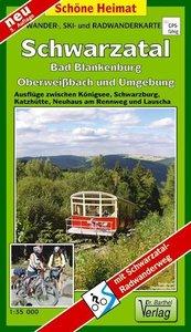 Schwarzatal, Bad Blankenburg, Oberweißbach und Umgebung 1 : 35 0