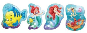 Jumbo 17347 - Disney Princess Arielle 4in1 Badepuzzle