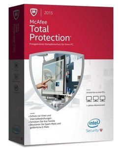 McAfee Total Protection 2015 3PC Upgrade (Code in a Box)