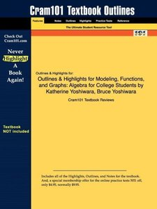 Outlines & Highlights for Modeling, Functions, and Graphs