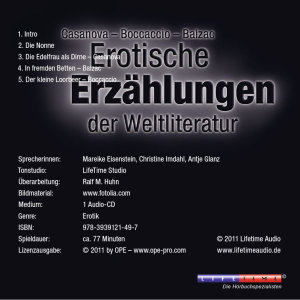 Erotika-Erotische Erzählungen Der Weltliteratur