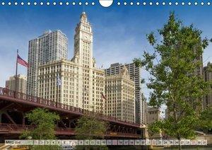 Viola, M: CHICAGO Stadtzentrum (Wandkalender 2015 DIN A4 que