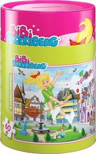 Schmidt 56912 - Bibi Blocksberg in Spardose Puzzles, 60 Teile