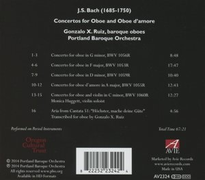 Concertos For Oboe And Oboe d.Amore