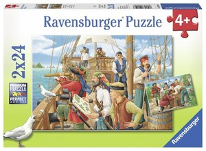 Bei den Piraten Puzzle 2 x 24 Teile