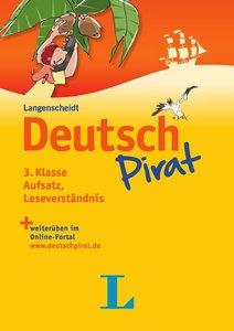 Deutschpirat 3. Klasse Aufsatz, Leseverständnis - Buch und Lösun