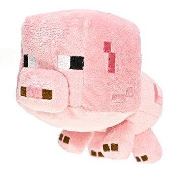 Minecraft 16526 - Stofftier Baby Schwein, 18 cm - zum Schließen ins Bild klicken