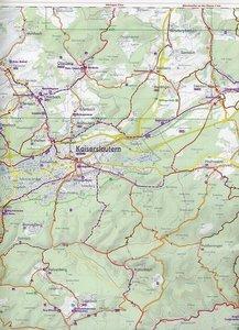 Bikeline Radkarte Deutschland Pfalz 1 : 75 000