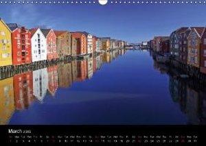 Kystriksveien and Trondheim (Wall Calendar 2015 DIN A3 Landscape