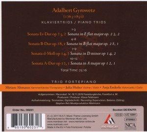 Gyrowetz: Klaviertrios