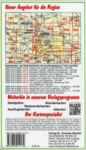 Radwander- und Wanderkarte Südraum Leipzig 1 : 50 000