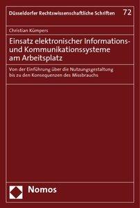 Einsatz elektronischer Informations- und Kommunikationssysteme a