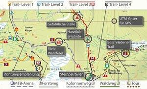 MTB (Mountain-Bike) Trail-Karte Harz 2: Braunlage - Schierke - S
