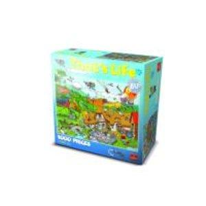 Goliath 71303006 - Thats Life Wimmel Puzzle Bauernhof , 1000 Tei