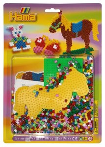 Hama 4068 - Perlenset Pferd, circa 1100 Bügelperlen, zwei Stiftp
