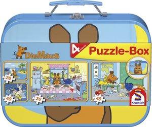 Die Maus. Puzzle-Box 2 x 26, 2 x 48 Teile