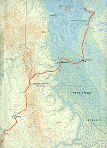 Yukon Territory Travel Map 1 : 1 000 000
