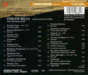 Vergine Bella-Italienische Renaissancemusik