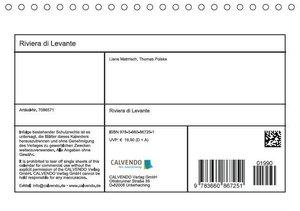 LianeM: Riviera di Levante (Tischkalender 2015 DIN A5 quer)