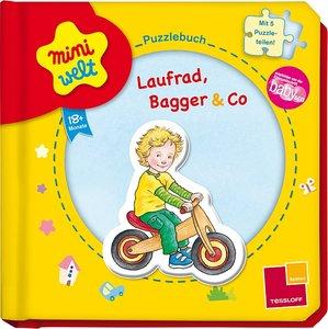 Miniwelt: Puzzlebuch. Laufrad, Bagger & Co