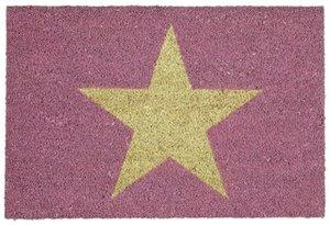 Star, Fussmatte, rosa