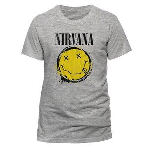 Smiley Splat (T-Shirt,Grau,Größe M)