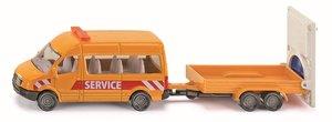 SIKU 1660 - Transporter mit Verkehrssicherungsanhänger