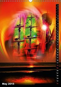Romance of sailing (Wall Calendar 2015 DIN A3 Portrait)