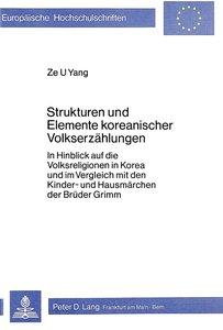 Strukturen und Elemente koreanischer Volkserzählungen
